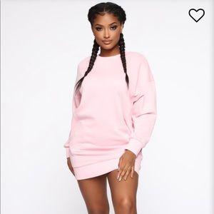 NWT Fashion Nova Pink Lounge Dress SMALL
